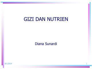 GIZI DAN NUTRIEN