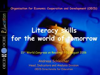Literacy skills  for the world of tomorrow