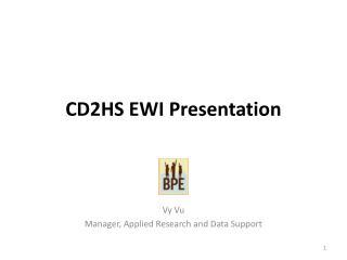 CD2HS EWI Presentation