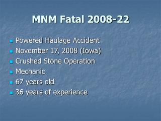 MNM Fatal 2008-22