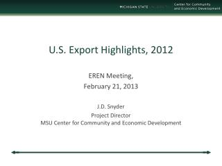 U.S. Export Highlights, 2012