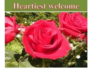 Heartiest welcome