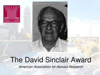 The David Sinclair Award