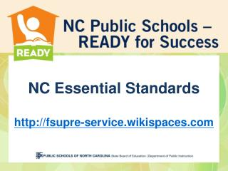 NC Essential Standards fsupre-service.wikispaces