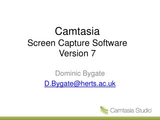 Camtasia Screen Capture Software Version 7