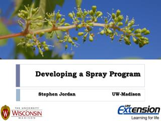 Developing a Spray Program