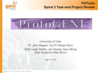 PGTools Spiral 2 Year-end Project Review