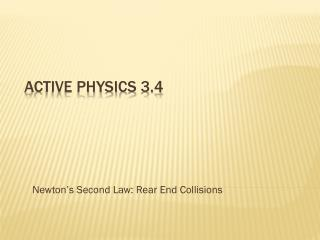 Active Physics 3.4
