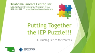 The IEP:  Drafting the IEP Steps 1, 2, 3, and 4