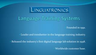 Language Training Systems