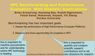 this is important for machine procurements and for understanding where HPC technology is heading