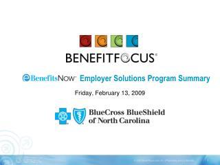 Employer Solutions Program Summary