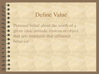 Define Value