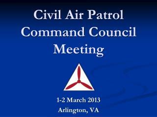 Civil Air Patrol Command Council Meeting