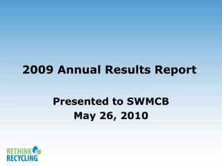 2009 Annual Results Report