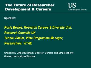 The Future of Researcher Development & Careers