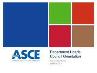Department Heads Council Orientation