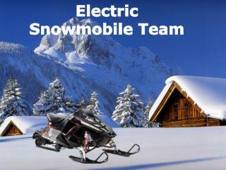 Electric  Snowmobile Team