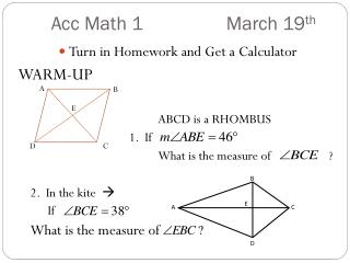 Acc  Math  1	  		March  19 th