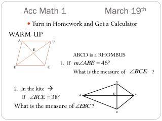 Acc  Math  1  March  19 th