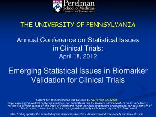 Support for this conference was provided by  NIH Grant CA132565.