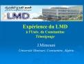 Exp rience du LMD    l Univ. de Constantine T moignage