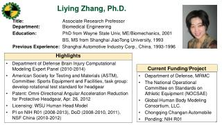Liying  Zhang, Ph.D .