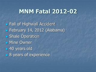 MNM Fatal 2012-02