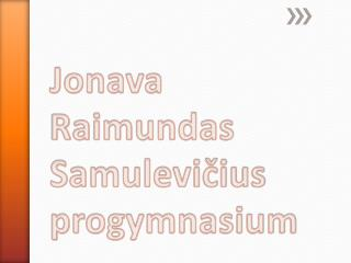 Jonava Raimundas Samulevičius progymnasium