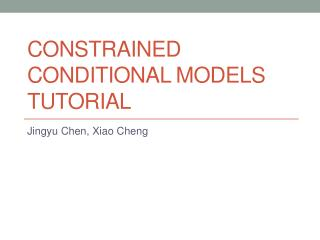 Constrained Conditional Models Tutorial