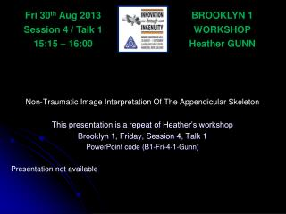 BROOKLYN 1 WORKSHOP Heather GUNN