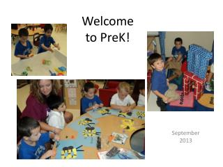 Welcome to  PreK !