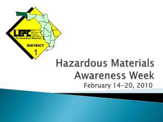 Hazardous Materials  Awareness Week
