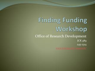 Finding Funding Workshop