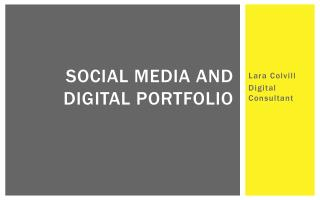 Social media and digital portfolio