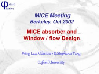 MICE absorber and Window / flow Design
