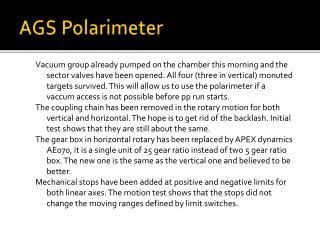 AGS  Polarimeter