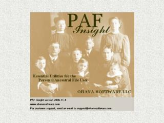 PAF Insight  2006 Version 2006.8.15
