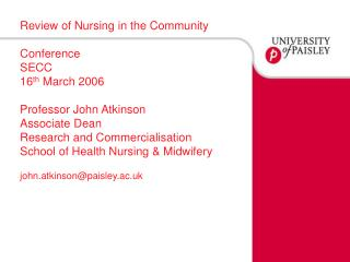 Review of Nursing in the Community