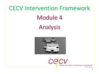 CECV Intervention Framework Module 4 Analysis