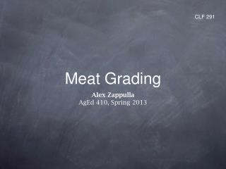 Meat Grading