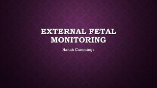 External fetal monitoring