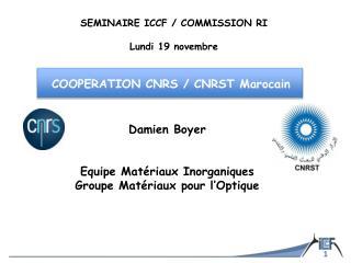 Damien Boyer Equipe Matériaux Inorganiques Groupe Matériaux pour l'Optique