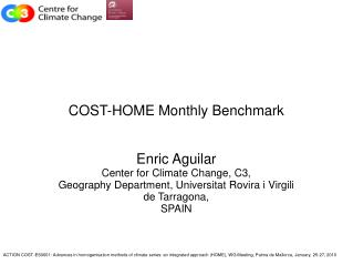 COST-HOME Monthly Benchmark