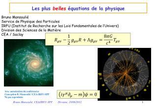 Les plus  belles  équations de la physique