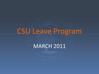 CSU Leave Program