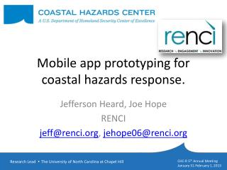 Mobile app prototyping for coastal hazards response.