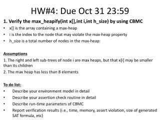 HW#4: Due Oct 31 23:59