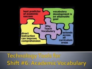 Technology Tools for  Shift #6: Academic Vocabulary