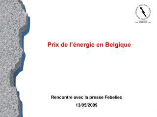 Prix de l'énergie en Belgique
